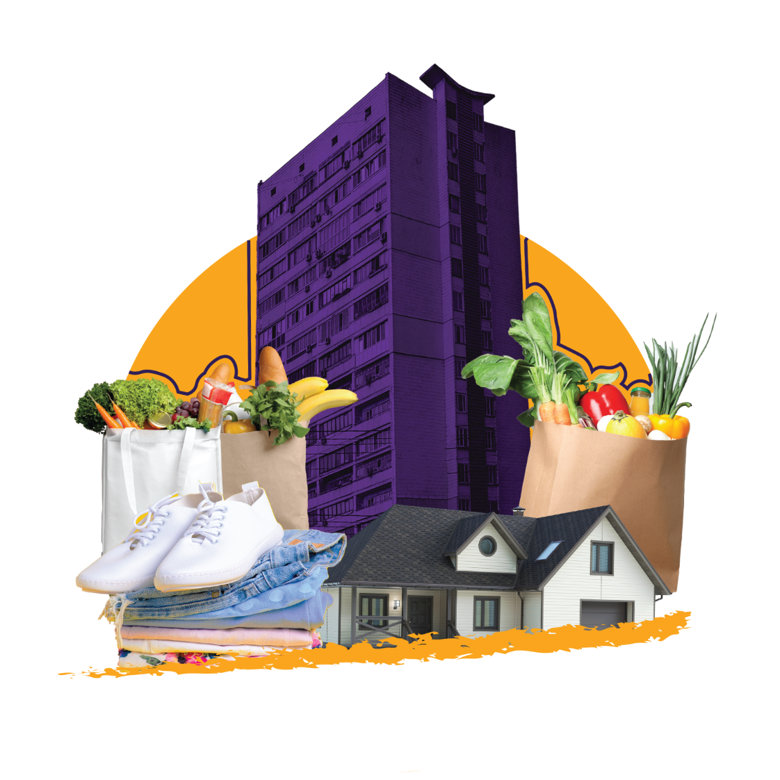 apartment and groceries